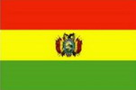 Drapeau vert jaune rouge de bolivie