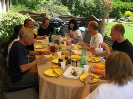notre déjeuner chez les Erbs