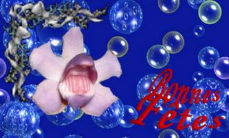 une fleur en fête dans la couleur bleue